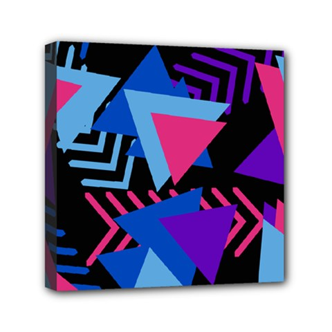 Memphis Pattern Geometric Abstract Mini Canvas 6  X 6  (stretched)