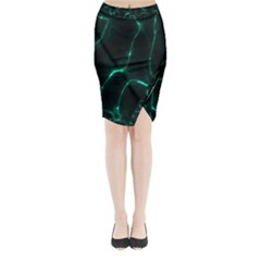 Green Pattern Background Abstract Midi Wrap Pencil Skirt by Pakrebo