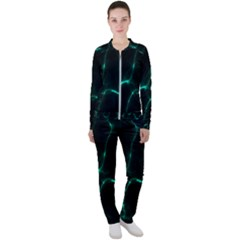 Green Pattern Background Abstract Casual Jacket And Pants Set by Pakrebo