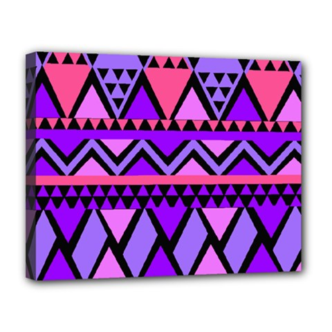 Seamless Purple Pink Pattern Canvas 14  x 11  (Stretched)