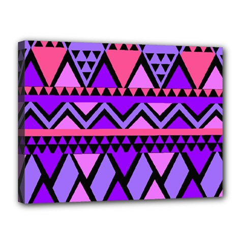 Seamless Purple Pink Pattern Canvas 16  x 12  (Stretched)