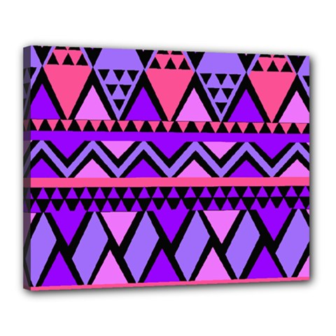 Seamless Purple Pink Pattern Canvas 20  x 16  (Stretched)