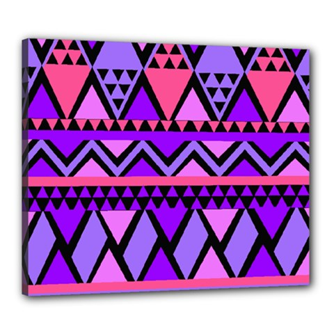 Seamless Purple Pink Pattern Canvas 24  x 20  (Stretched)