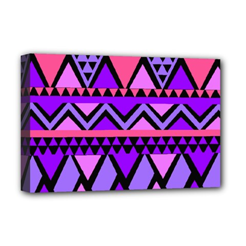 Seamless Purple Pink Pattern Deluxe Canvas 18  x 12  (Stretched)