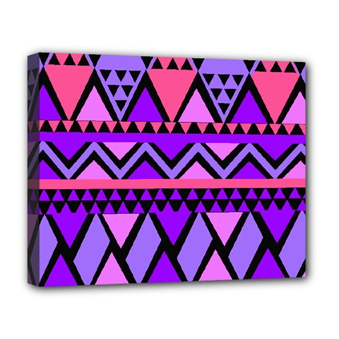 Seamless Purple Pink Pattern Deluxe Canvas 20  x 16  (Stretched)