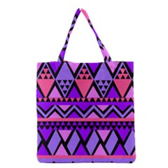 Seamless Purple Pink Pattern Grocery Tote Bag