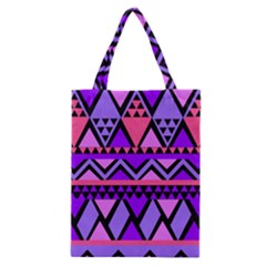 Seamless Purple Pink Pattern Classic Tote Bag