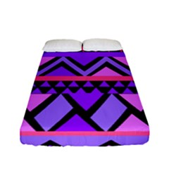Seamless Purple Pink Pattern Fitted Sheet (Full/ Double Size)