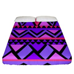 Seamless Purple Pink Pattern Fitted Sheet (Queen Size)