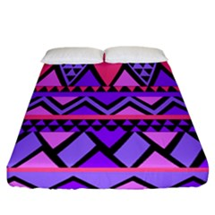 Seamless Purple Pink Pattern Fitted Sheet (California King Size)