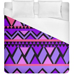 Seamless Purple Pink Pattern Duvet Cover (King Size)