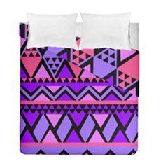 Seamless Purple Pink Pattern Duvet Cover Double Side (Full/ Double Size)