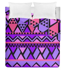 Seamless Purple Pink Pattern Duvet Cover Double Side (Queen Size)