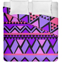 Seamless Purple Pink Pattern Duvet Cover Double Side (King Size)