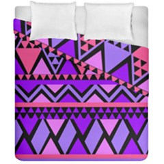 Seamless Purple Pink Pattern Duvet Cover Double Side (California King Size)