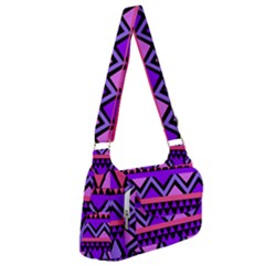 Seamless Purple Pink Pattern Post Office Delivery Bag