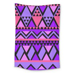 Seamless Purple Pink Pattern Large Tapestry