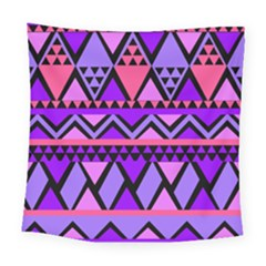 Seamless Purple Pink Pattern Square Tapestry (Large)