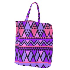 Seamless Purple Pink Pattern Giant Grocery Tote