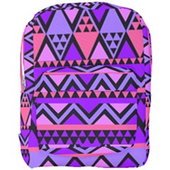 Seamless Purple Pink Pattern Full Print Backpack