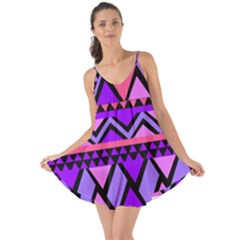 Seamless Purple Pink Pattern Love the Sun Cover Up