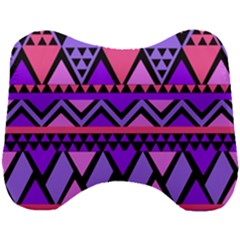 Seamless Purple Pink Pattern Head Support Cushion