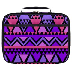 Seamless Purple Pink Pattern Full Print Lunch Bag
