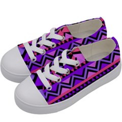 Seamless Purple Pink Pattern Kids  Low Top Canvas Sneakers by Pakrebo