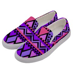 Seamless Purple Pink Pattern Men s Canvas Slip Ons by Pakrebo