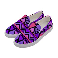 Seamless Purple Pink Pattern Women s Canvas Slip Ons by Pakrebo