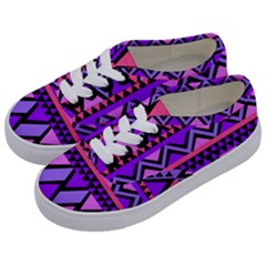 Seamless Purple Pink Pattern Kids  Classic Low Top Sneakers by Pakrebo