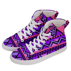 Seamless Purple Pink Pattern Men s Hi Top Skate Sneakers by Pakrebo