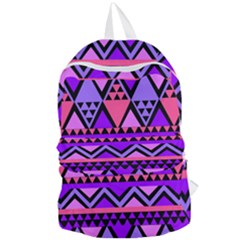 Seamless Purple Pink Pattern Foldable Lightweight Backpack