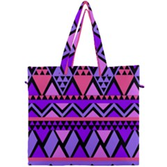 Seamless Purple Pink Pattern Canvas Travel Bag
