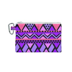 Seamless Purple Pink Pattern Canvas Cosmetic Bag (Small)