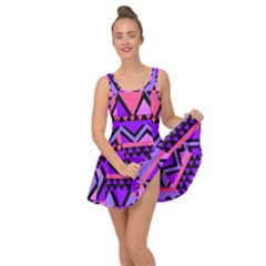 Seamless Purple Pink Pattern Inside Out Casual Dress