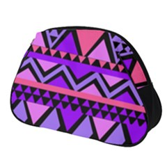 Seamless Purple Pink Pattern Full Print Accessory Pouch (Small)