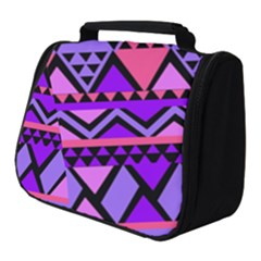 Seamless Purple Pink Pattern Full Print Travel Pouch (Small)