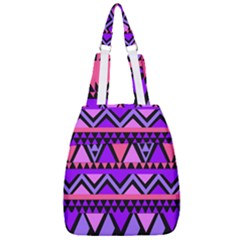 Seamless Purple Pink Pattern Center Zip Backpack
