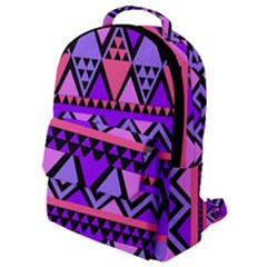 Seamless Purple Pink Pattern Flap Pocket Backpack (Small)