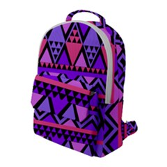 Seamless Purple Pink Pattern Flap Pocket Backpack (Large)
