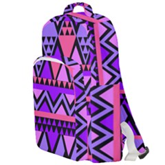 Seamless Purple Pink Pattern Double Compartment Backpack