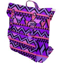 Seamless Purple Pink Pattern Buckle Up Backpack
