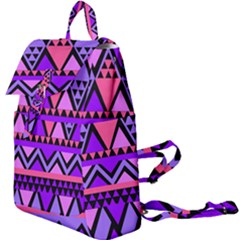 Seamless Purple Pink Pattern Buckle Everyday Backpack