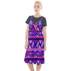 Seamless Purple Pink Pattern Camis Fishtail Dress by Pakrebo