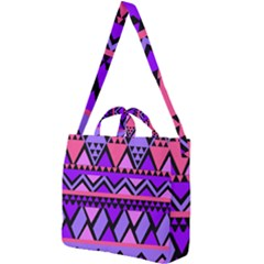Seamless Purple Pink Pattern Square Shoulder Tote Bag