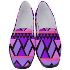Seamless Purple Pink Pattern Women s Classic Loafer Heels by Pakrebo