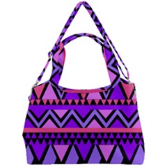 Seamless Purple Pink Pattern Double Compartment Shoulder Bag