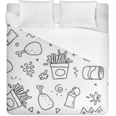 Set Chalk Out Scribble Collection Duvet Cover (king Size) by Pakrebo