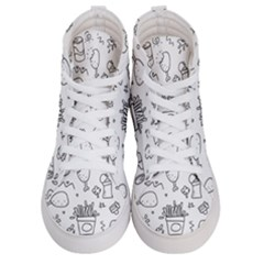 Set Chalk Out Scribble Collection Men s Hi Top Skate Sneakers